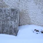 Il quadrato del Sator all'ingresso del Reale